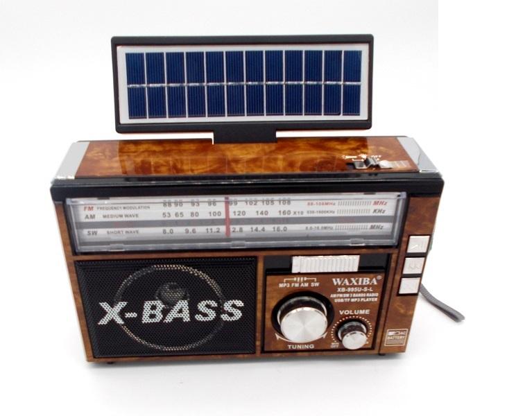 a4d3f952443 Rechargeable 3 band radio USB TF MP3 WAXIBA XB-995U-S-L
